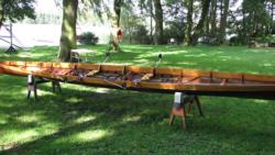Gig Boot, hier: C-Gig Doppelzweier mit Steuermann, Abkürzung: C-2x+